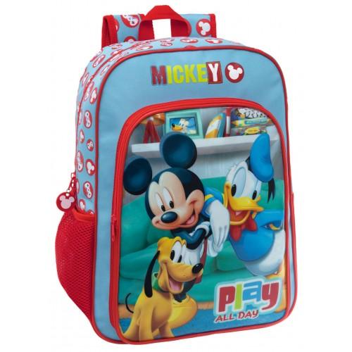 Ghiozdan de scoala adaptabil 40 cm Mickey Play