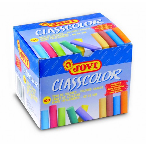 Creta colorata 10 culori x 10 buc/culoare total 100 buc/set Jovi