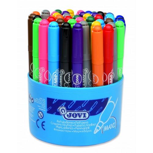 Carioci varf gros 12 culori x 4 buc/culoare, total 48 buc/suport Jovi