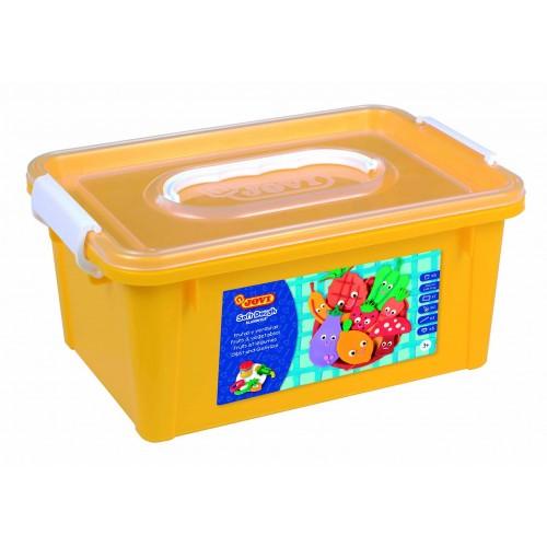 Plastilina Soft Blandiver 5 tuburi + accesorii: forme fructe si legume/set Jovi