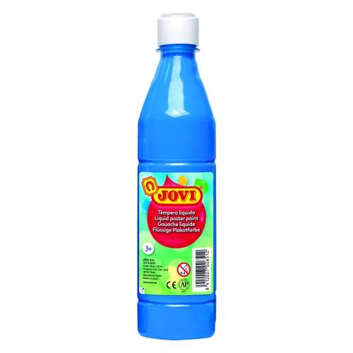 Tempera lichida albastru deschis 500 ml/sticla Jovi