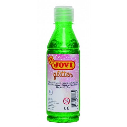 Tempera lichida cu sclipici verde 250 ml/sticla Jovi