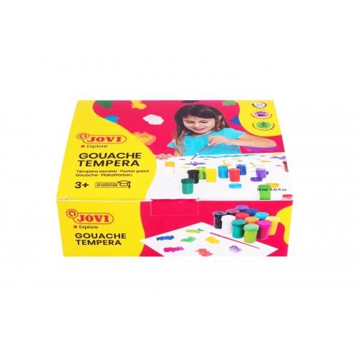Tempera scoala 12 culori x 15 ml/culoare set Jovi