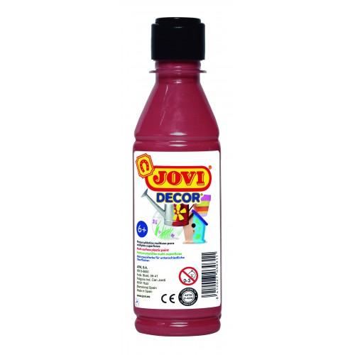 Tempera decorativa-suprafete multiple maron 250 ml/sticla Jovidecor Acryl