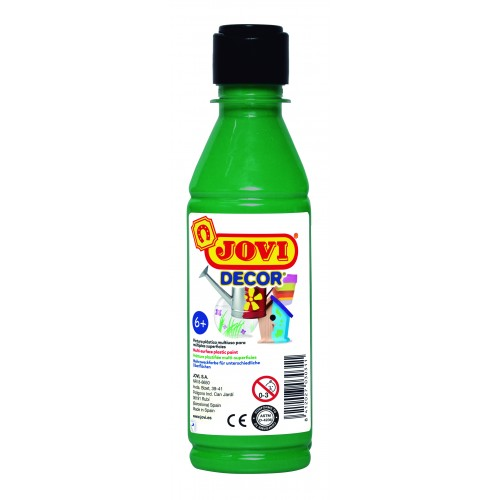 Tempera decorativa-suprafete multiple verde inchis 250 ml/sticla Jovidecor Acryl