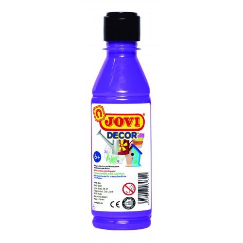 Tempera decorativa-suprafete multiple violet 250 ml/sticla Jovidecor Acryl
