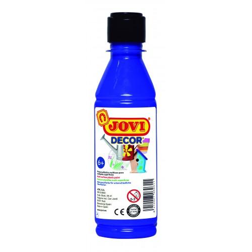 Tempera decorativa-suprafete multiple albastru inchis 250 ml/sticla Jovidecor Acryl