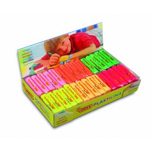Plastilina 30 bucati x 50g, 6 culori neon/set Jovi