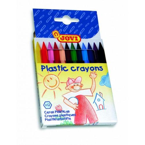 Creioane cerate hexagonale 12 culori/set Jovi