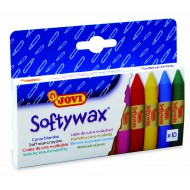 Creioane cerate Soft 10 culori/set Jovi Softywax