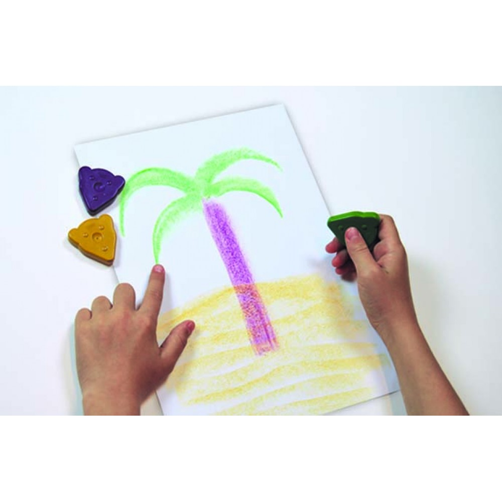 Creioane cerate 10 culori x 3 buc/culoare, total 30 buc/suport Magic Bear Jovi