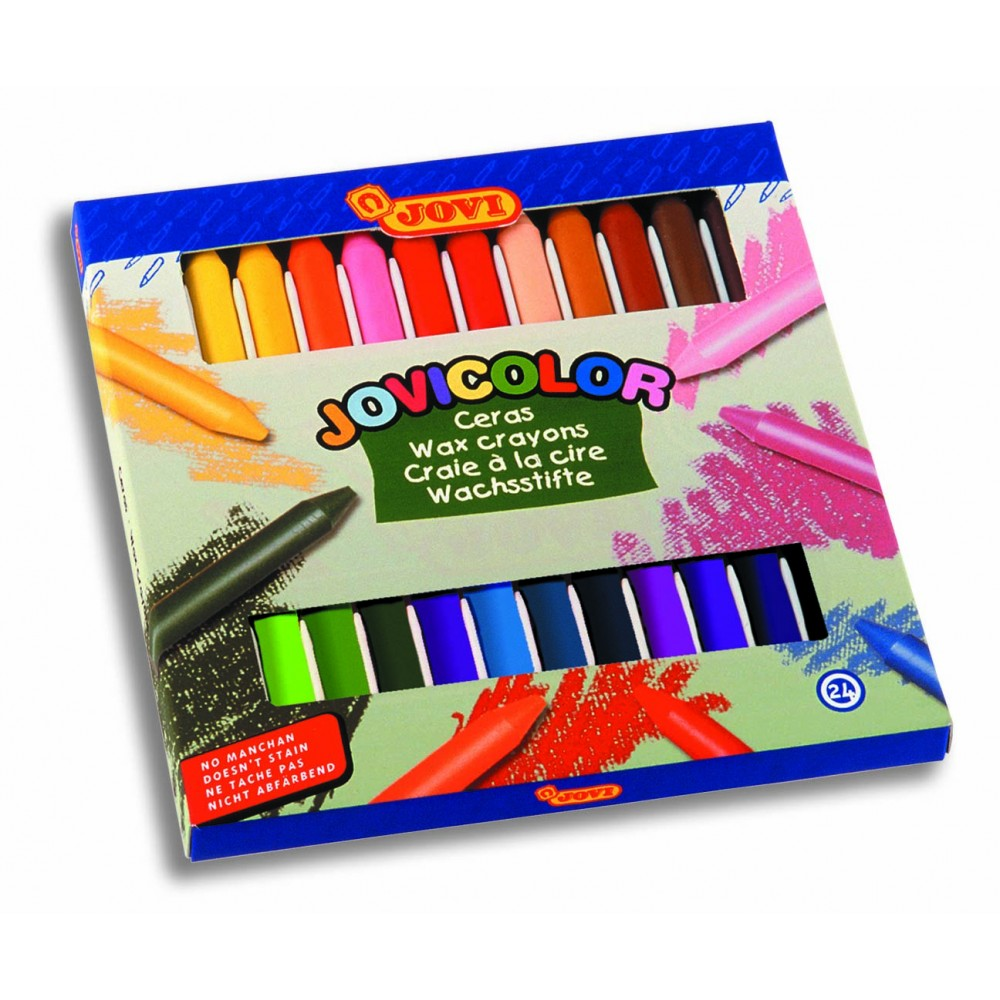 Creioane cerate 24 culori/set Jovi