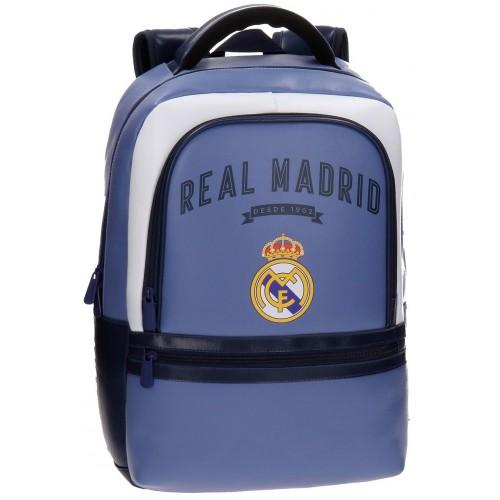 Rucsac scoala adaptabil 44 cm comp. laptop Strokes Real Madrid