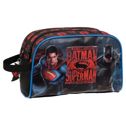 Borseta 26 cm 2 comp. Superman - Batman