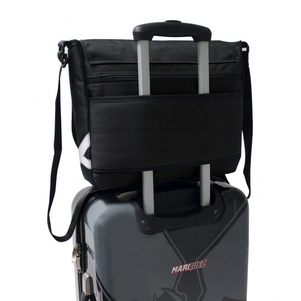 Geanta umar, compartiment laptop negru Munich MM93, 38x31x10 cm