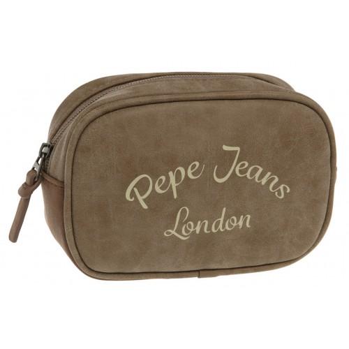 Borseta 2 compartimente 17 cm bej Pepe Jeans Original