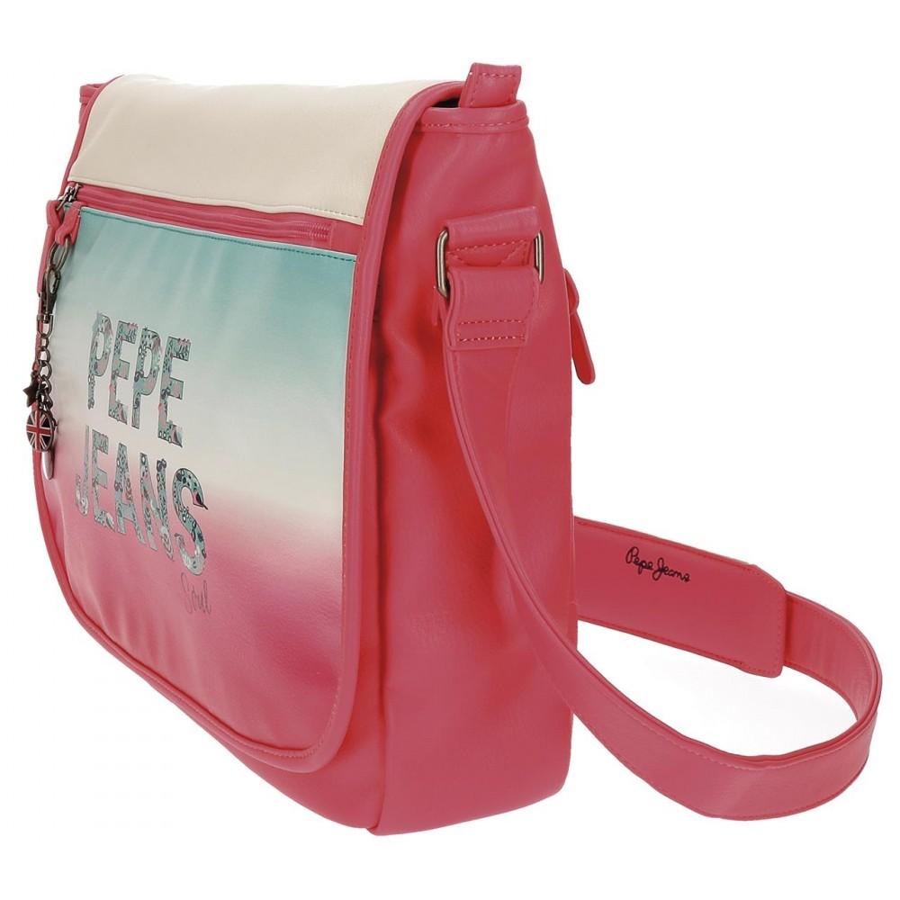 Geanta umar, compartiment laptop Pepe Jeans Nicole, 38x31x10 cm