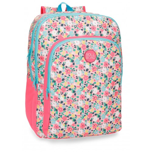 Rucsac 42 cm 2 compartimente Roll Road Pretty Coral