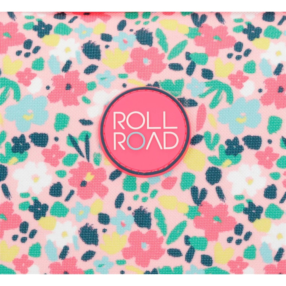 Rucsac scoala fete Roll Road Pretty Coral, 33x44x13.5 cm