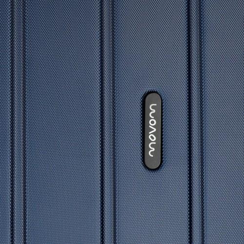 Troler ABS 65 cm 4 roti Movom Wood bleumarin