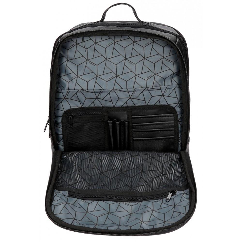 Rucsac casual, compartiment laptop Movom Texas negru, 33x42x18 cm