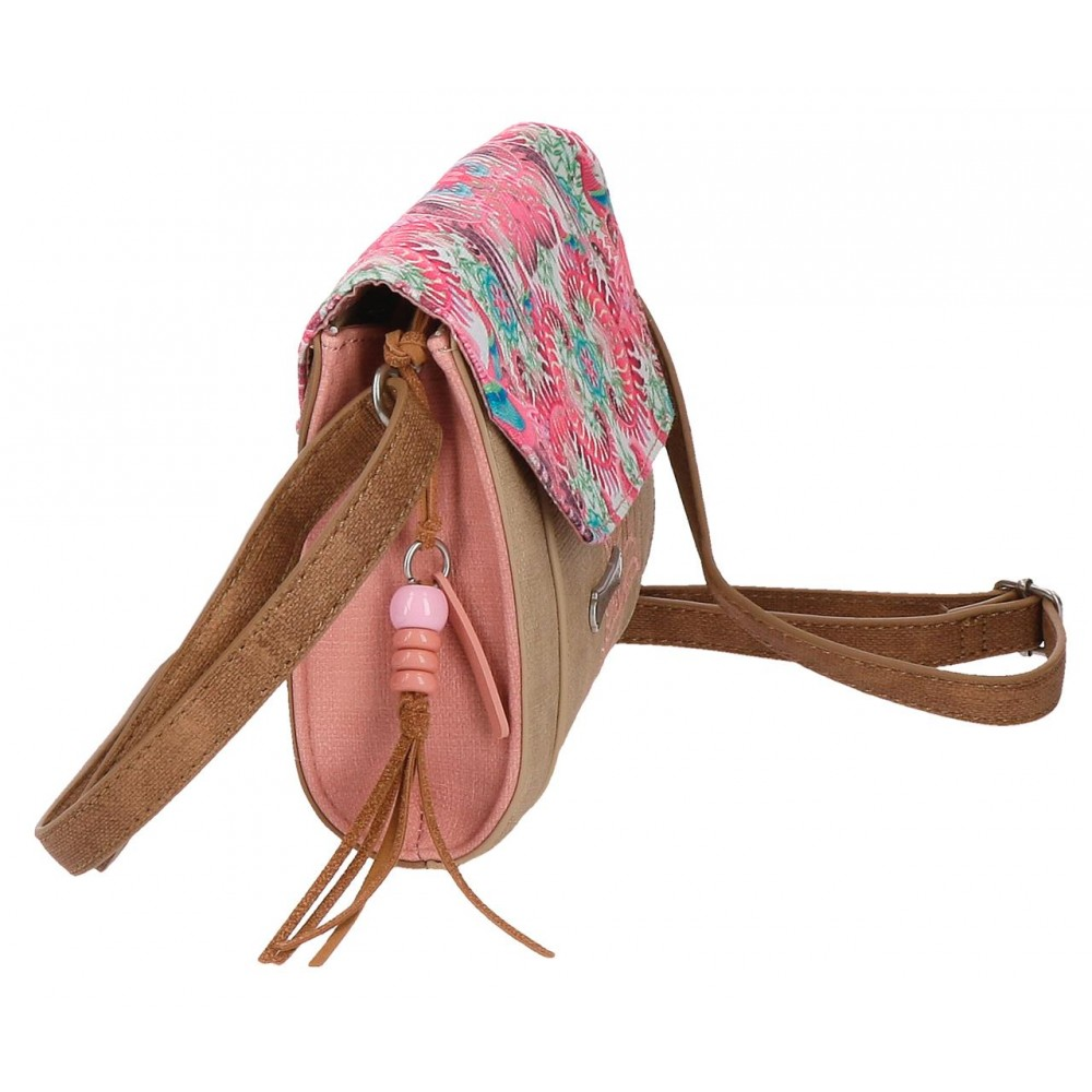 Geanta dama umar brodata Catalina Estrada Faisan roz, 20x15x6 cm