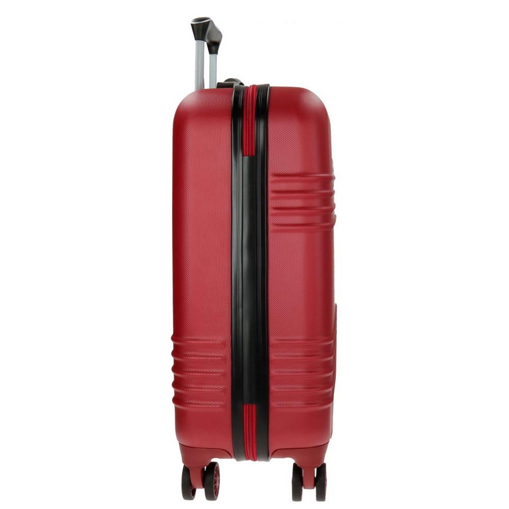 Troler ABS 55 cm 4 roti Roll Road India rosu