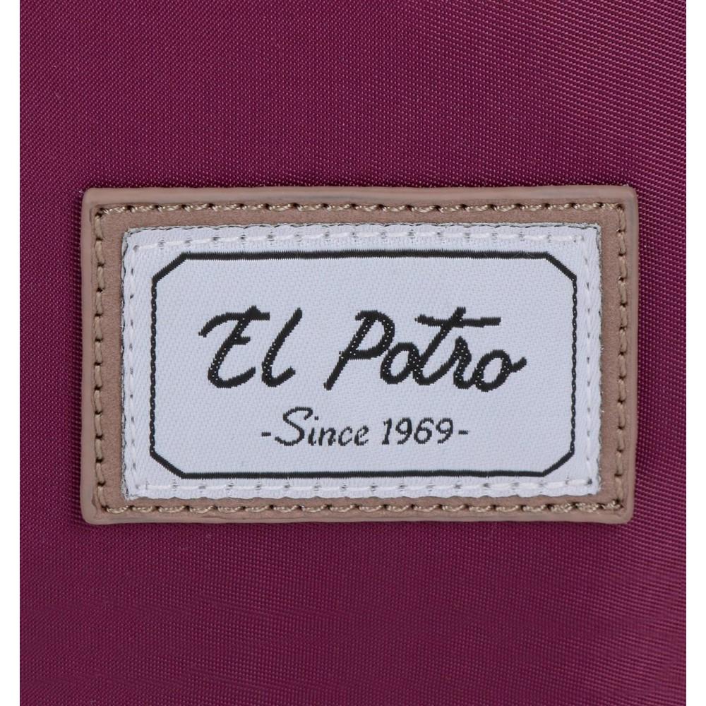 Geanta umar adaptabila compartiment laptop mov El Potro Pipe, 40x32x8 cm