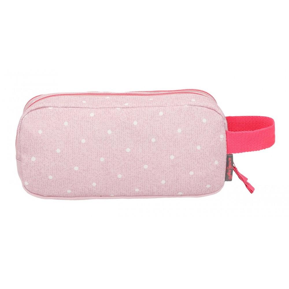 Borseta 22 cm 2 comp Pepe Jeans Olaia roz