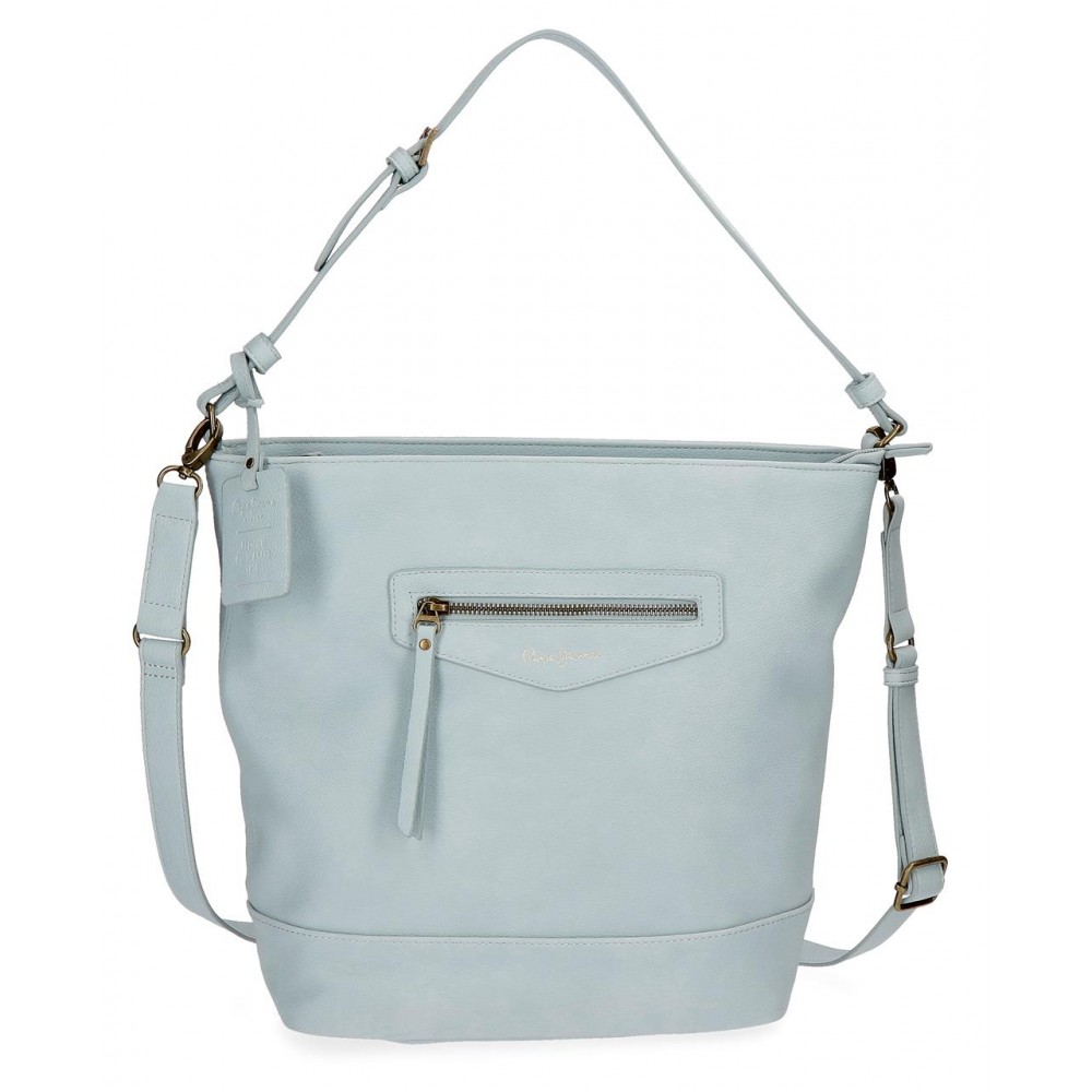 Geanta shopping dama Pepe Jeans Olivia albastru, 28x32x14 cm