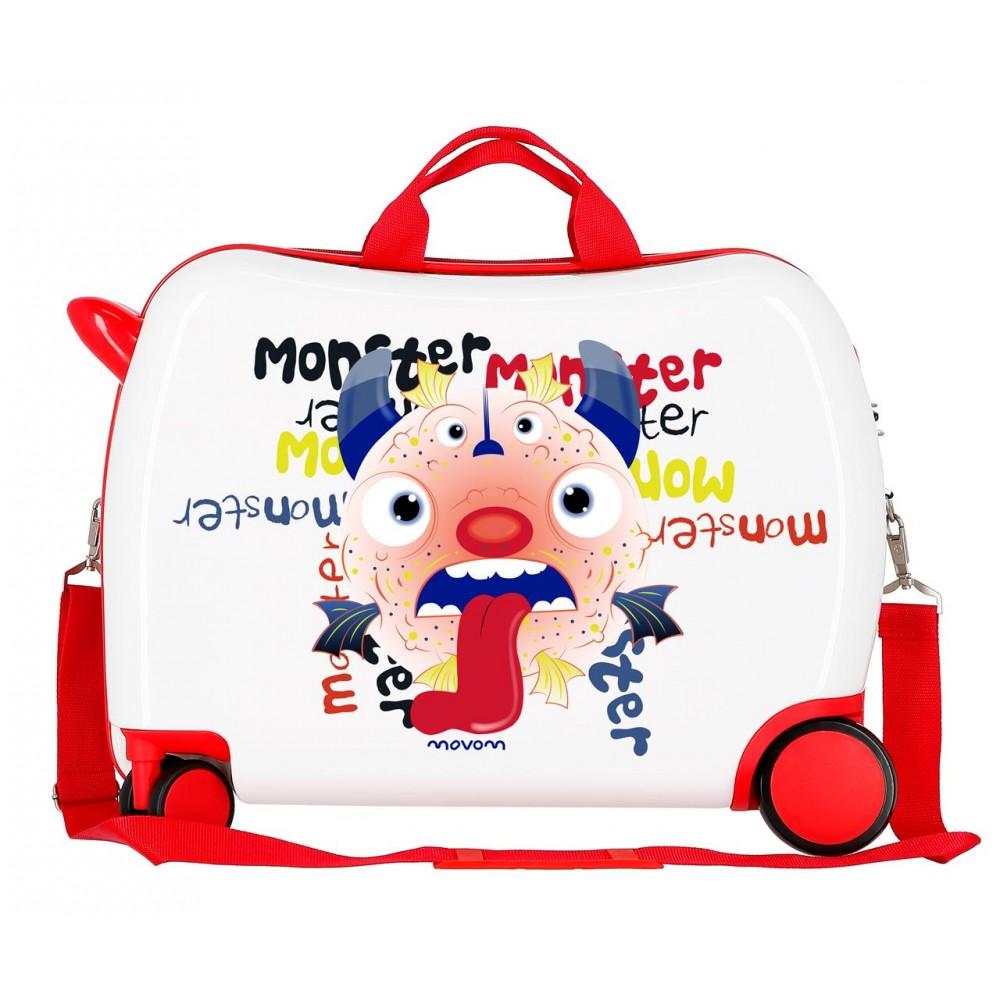Valiza calatorie copii ABS Movom Monster, 38x50x20 cm