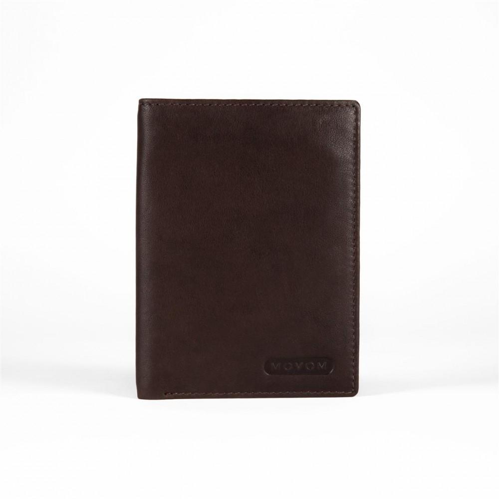 Portofel barbati, Movom Rectangle maron, 9x12.5x1 cm