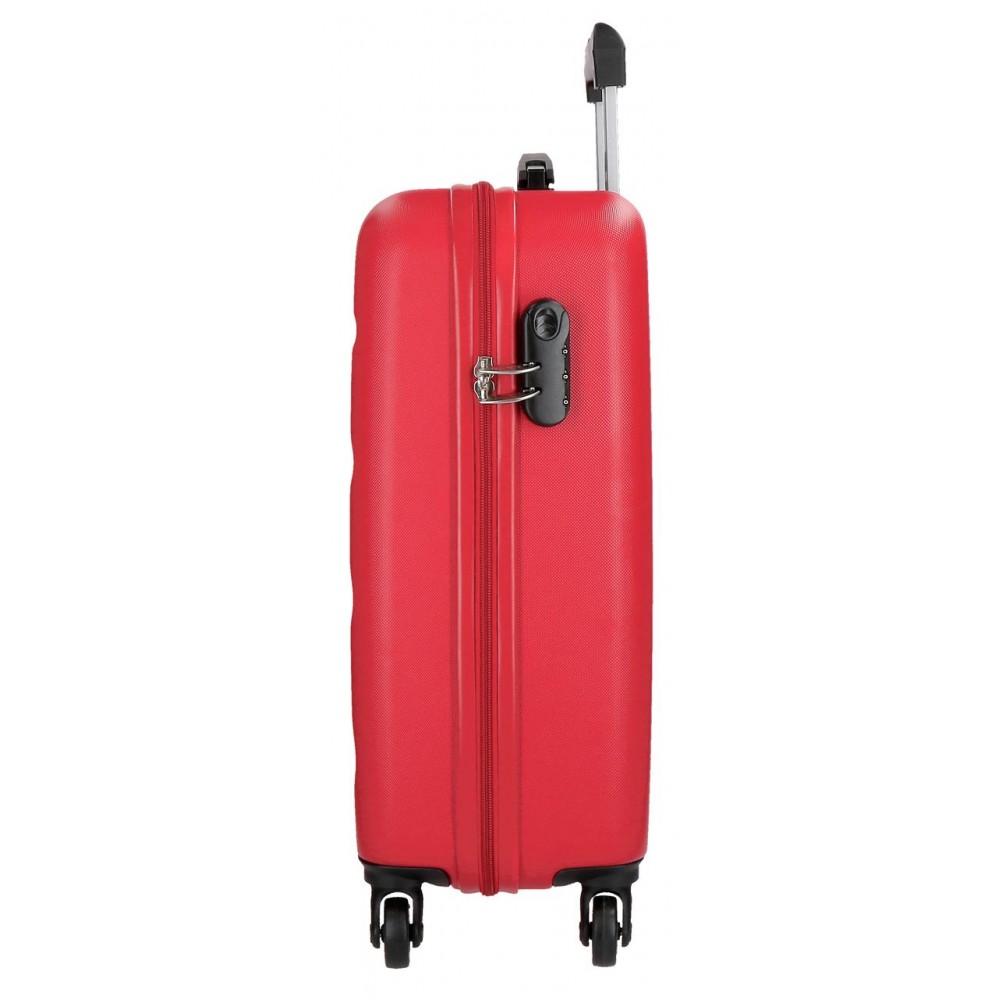 Troler cabina ABS Roll Road Flex rosu, 55x38x20 cm