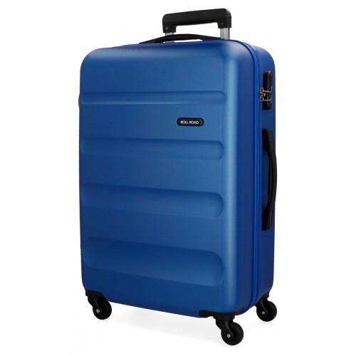 Troler ABS 65 cm Roll Road Flex albastru
