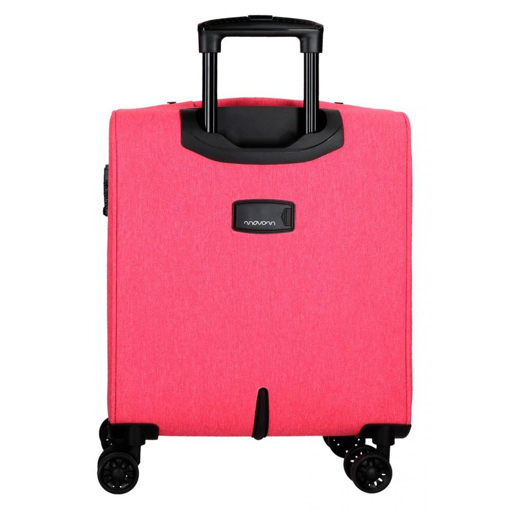 Troler cabina soft Movom Oslo roz, 55x40x20 cm