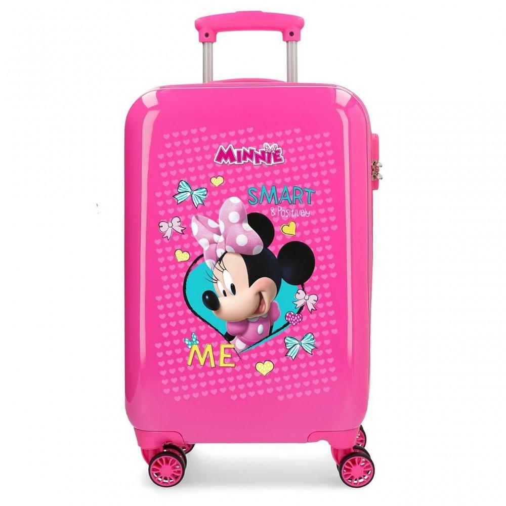 Troler copii, cabina, ABS Minnie Happy Helpers, 55x34x20 cm
