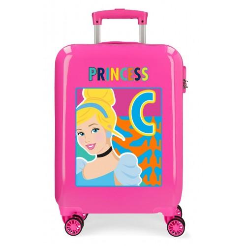 Troler ABS 55 cm 4 roti  Attitude Princess Cinderella