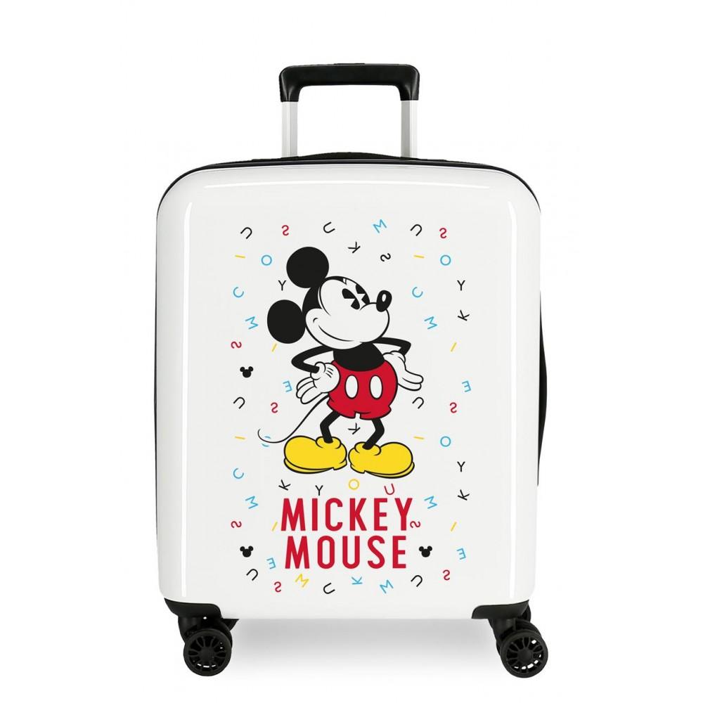 Troler copii, cabina, ABS Mickey Style Letras, 55x40x20 cm