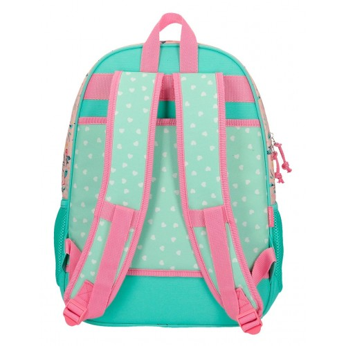 Rucsac scoala 42 cm Movom Save the Planet din material reciclabil