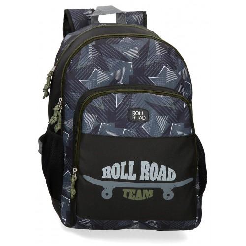 Rucsac scoala 46 cm 2 compartimente Roll Road Team