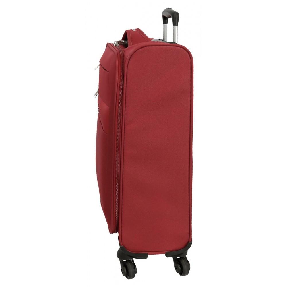 Troler textil cabina rosu Roll Road Royce, 55x40x20 cm