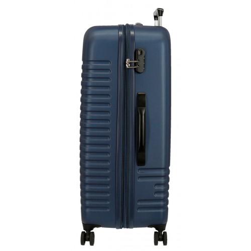 Troler expandabil ABS 80 cm 4 roti Roll Road India bleumarin