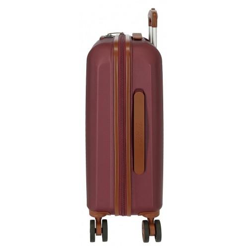 Troler ABS 55 cm 4 roti El Potro Ocuri rosu