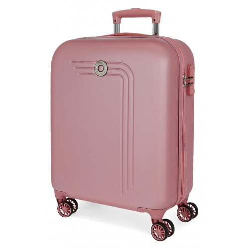 Troler ABS 55 cm 4 roti Movom Riga roz