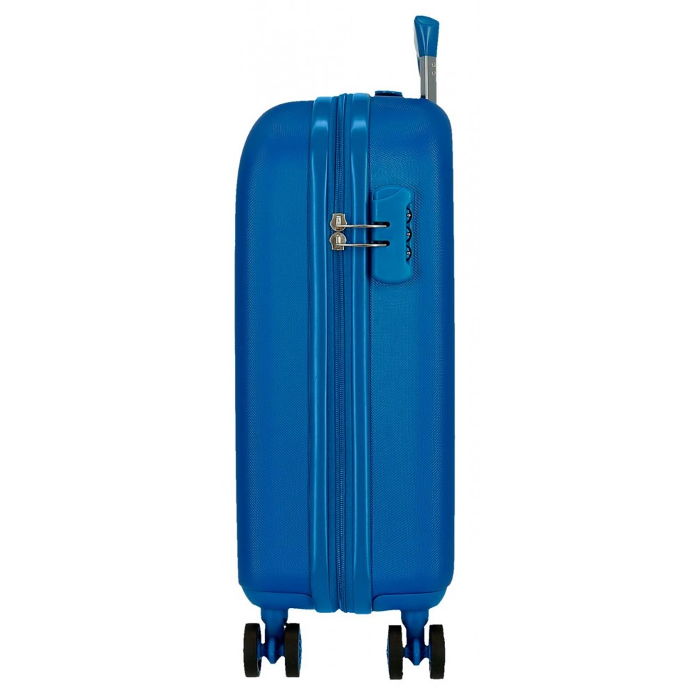 Troler cabina ABS 4 roti Movom Riga albastru, 55x40x20 cm