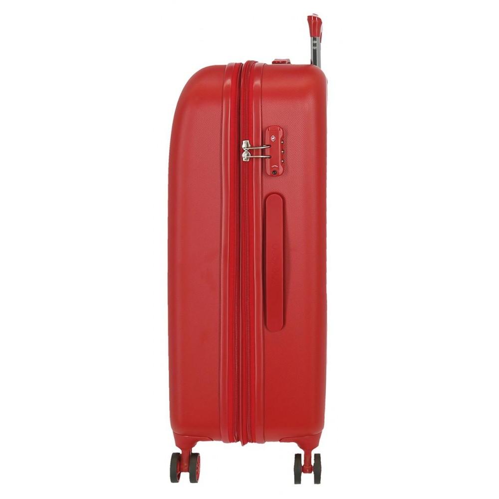 Troler ABS expandabil 70 cm 4 roti Movom Riga rosu