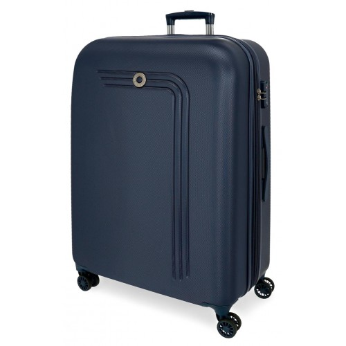 Troler ABS expandabil 80 cm 4 roti Movom Riga bleumarin