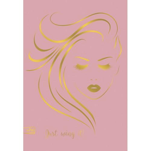 Caiet A4, 40 file, hartie 75 g, coperta cu imprimeuri glossy lamination 330 g, Gold Rose dictando