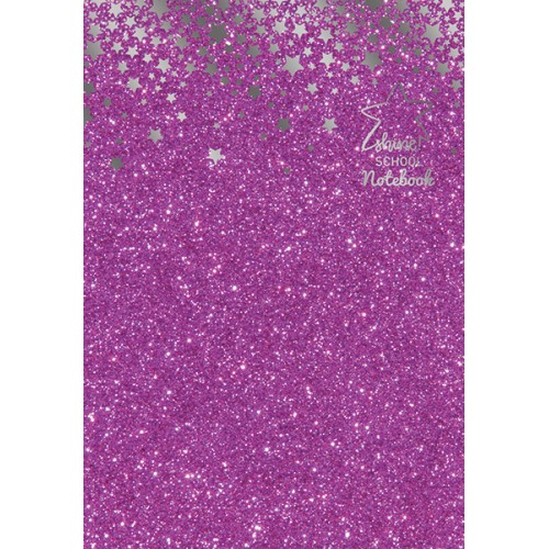 Notebook A4, 60 file, hartie 75 g, coperta cartonata din carton de 1,5 mm si hartie glitterata 130 g, Shine dictando