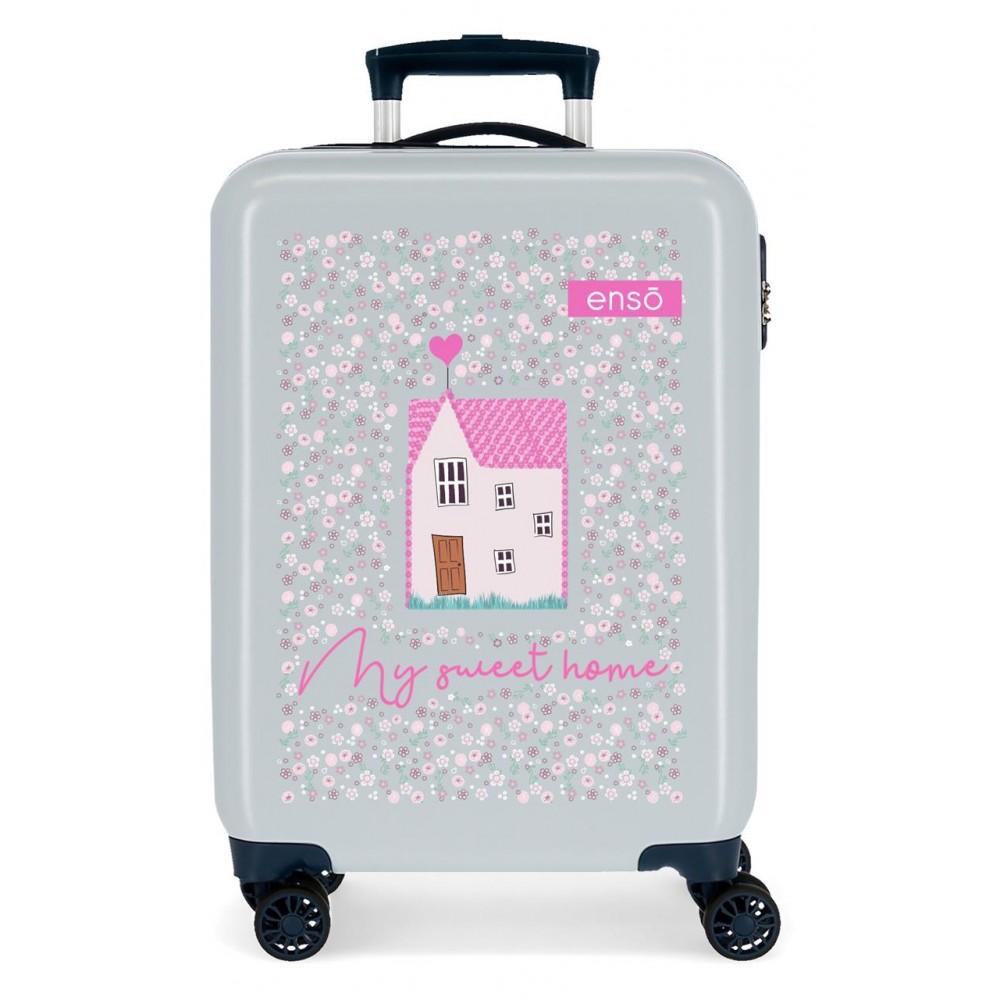 Troler copii, cabina, ABS 4 roti Enso My Sweet Home, 55x38x20 cm